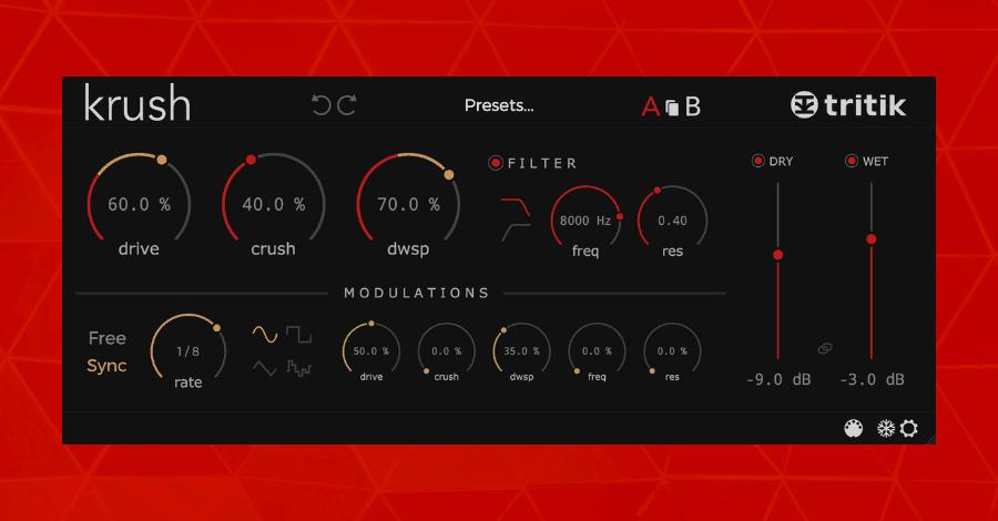 Krush Tritik Hyperbits Bitcrusher Free Plugins for Music Producers