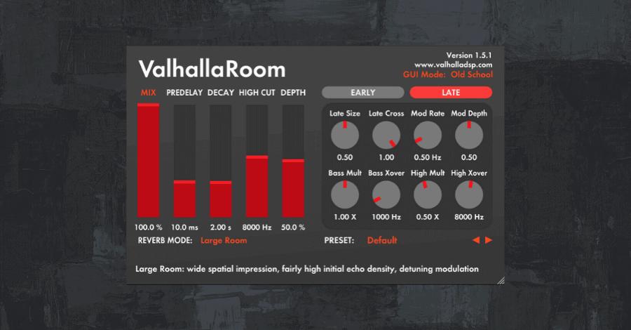Best Reverb Plugins - Valhalla Room