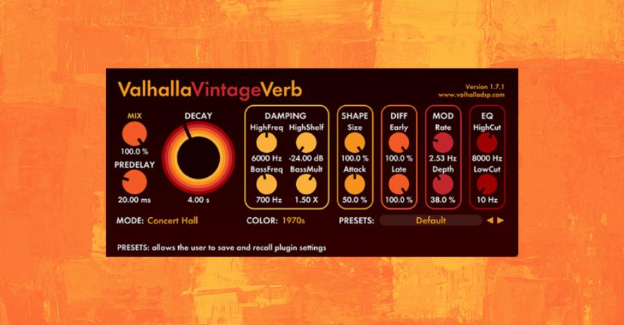 Best Reverb Plugins - Valhalla Vintage Verb