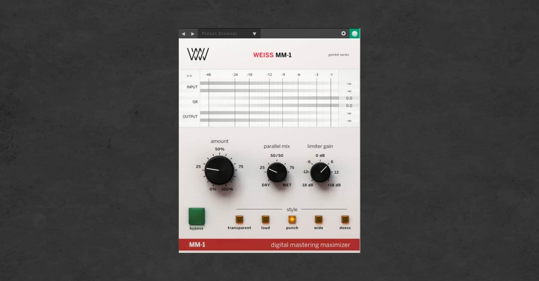 Best Mastering Plugins: Weiss Maximizer
